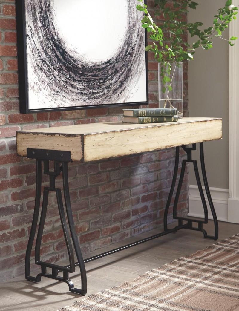 Signature Design | Vanport Cream Sofa Table
