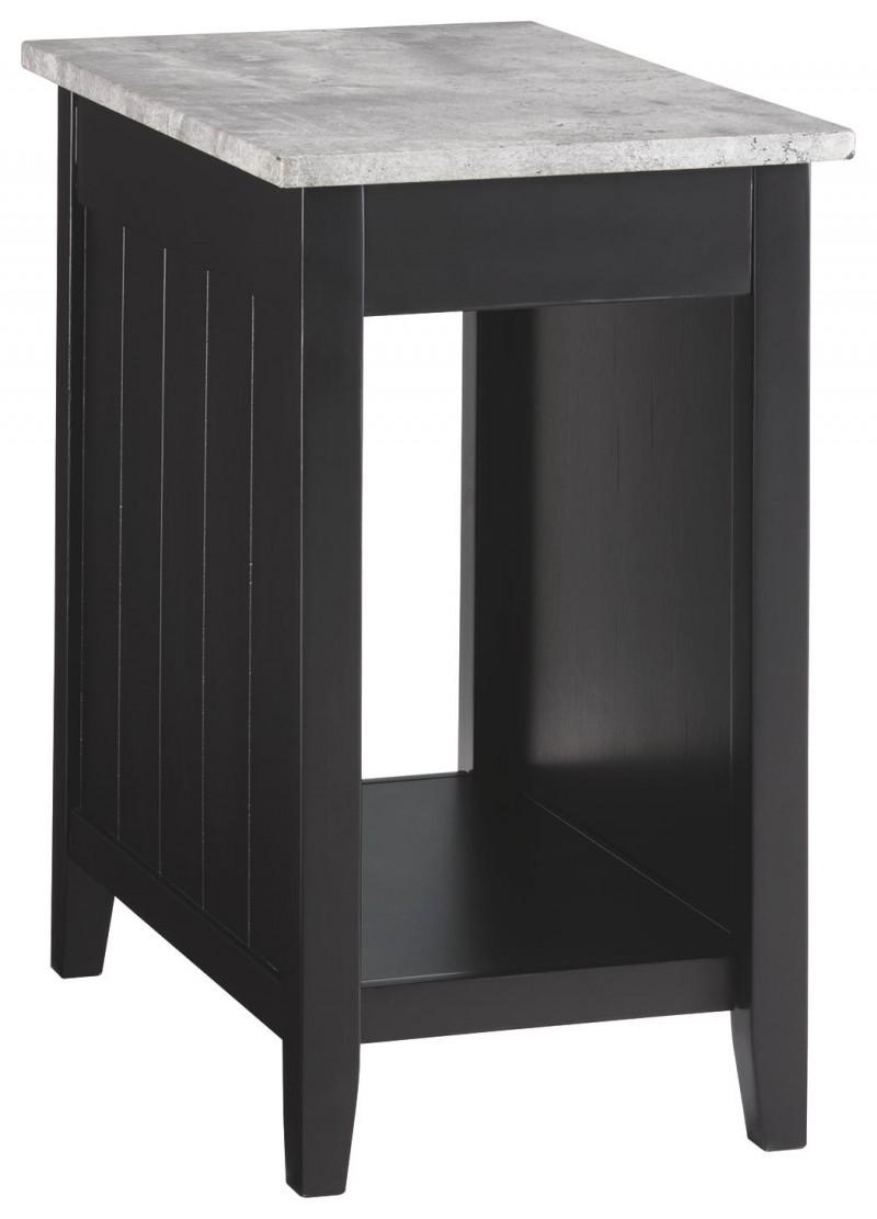 Signature Design | Diamenton Black Chairside Table