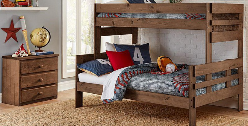 Simply Bunk Beds | TWIN/FULL BUNKBED HB &FB CHESTNUT