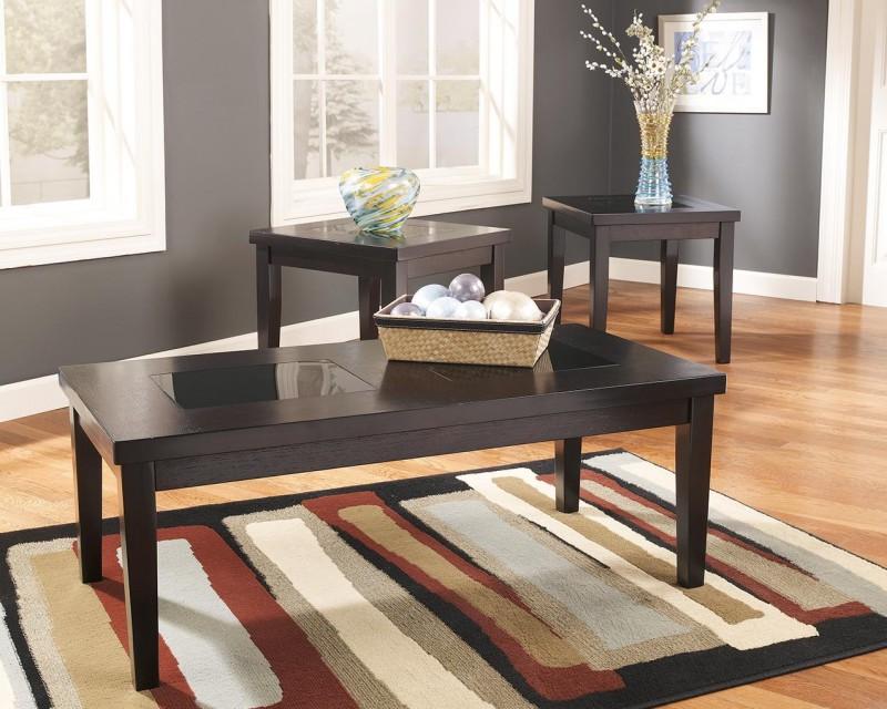 Signature Design   Denja Dark Brown 3 Pack Tables