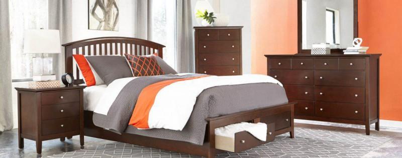 American Imports Bourbon Queen Storage Bed,Dresser/Mirror