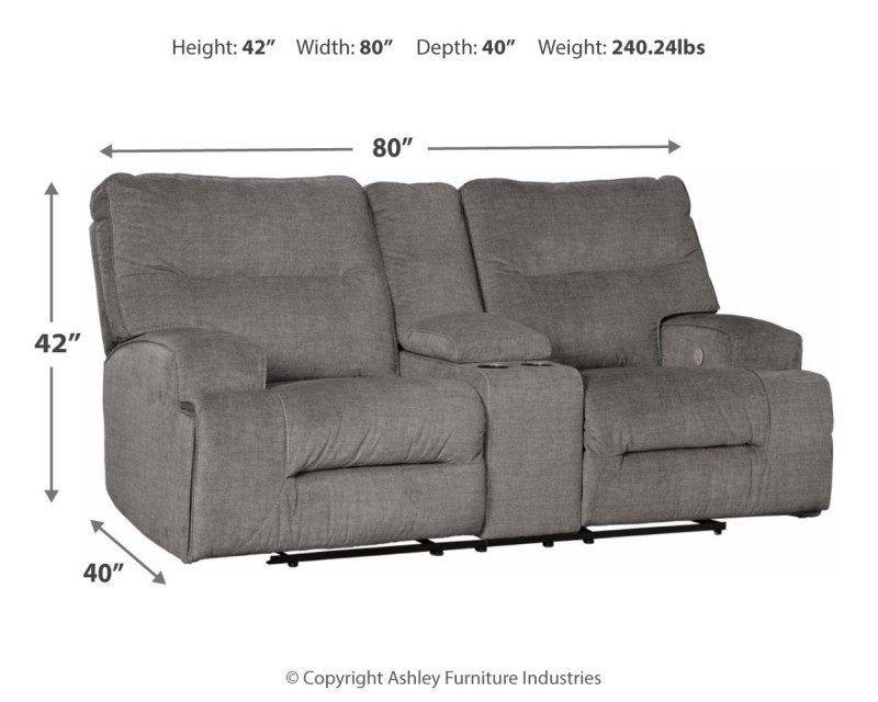 Signature Design   Coombs Charcoal Loveseat