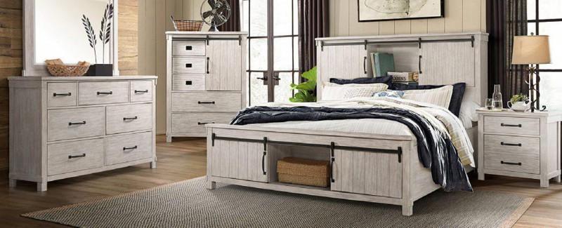 American Imports Scott White Queen 6pc Bedroom