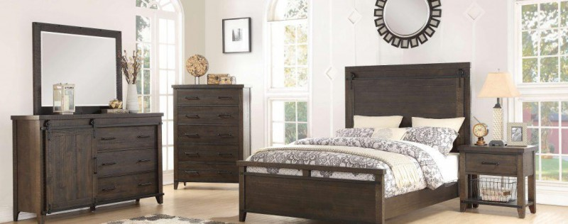 American Imports Sundance Queen Bed,Dresser/Mirror,&Chest