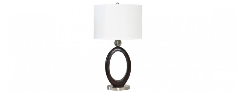 American Imports | Steel & wood table lamps 2pc /
