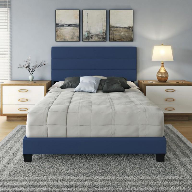 Boyd | Piedmont Blue Platform Bed, EK