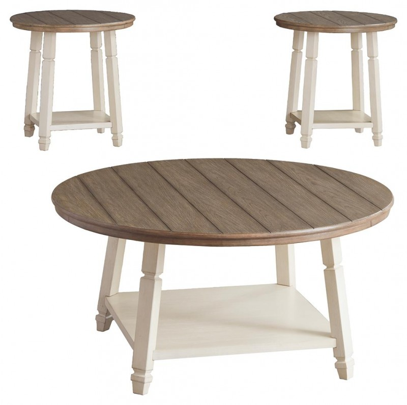 Signature Design   Bolanbrook Two-tone 3 pack of tables