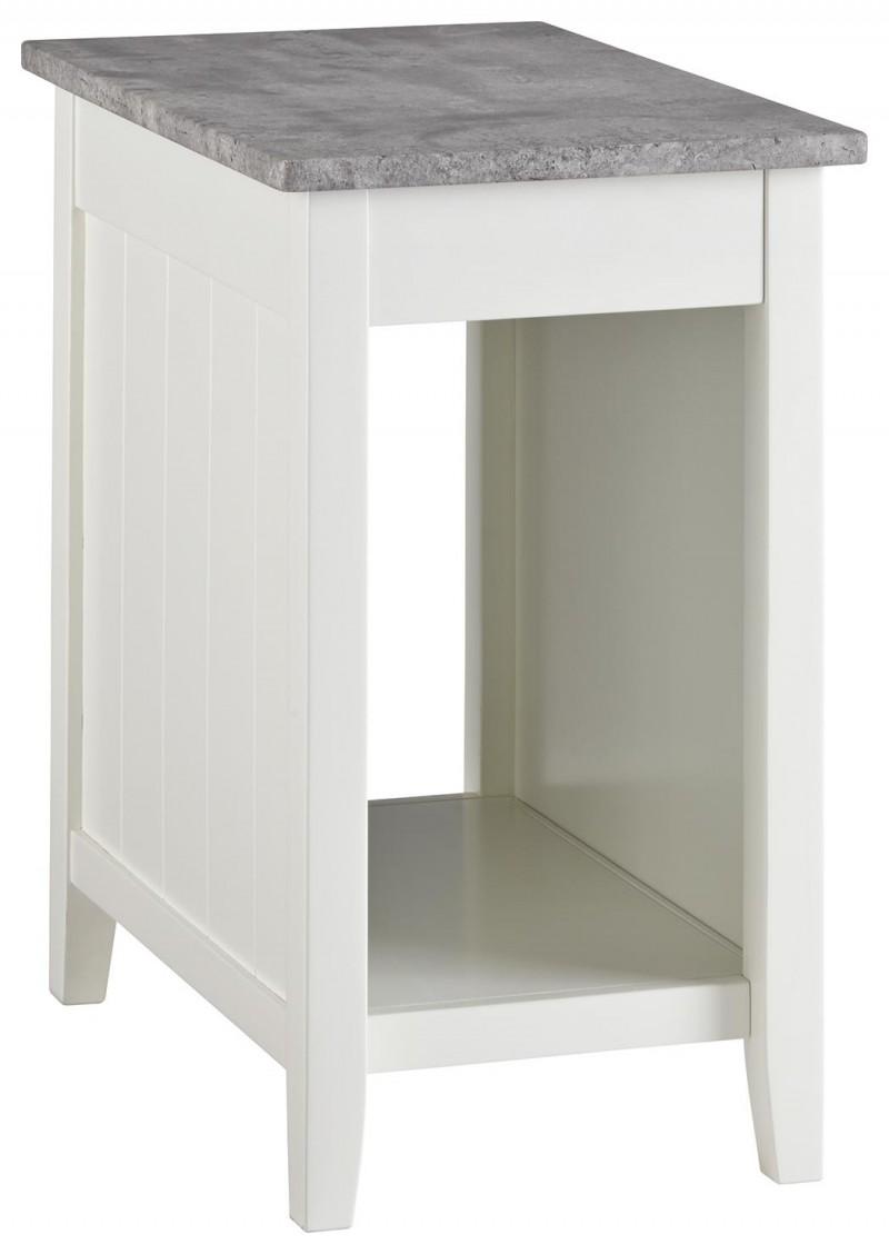 Signature Design | Diamenton White Chairside Table