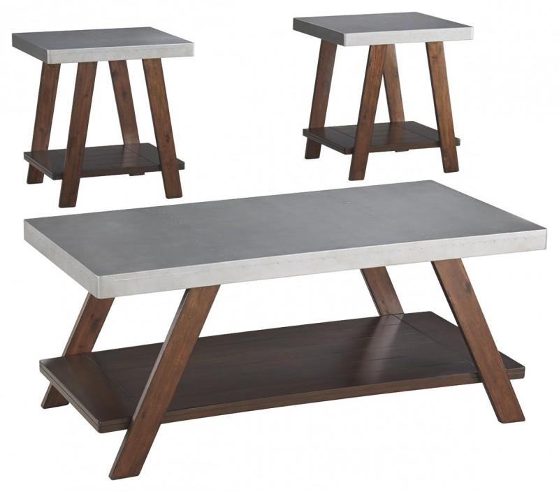 Signature Design   bellenteen 3 pk tables brown/silver