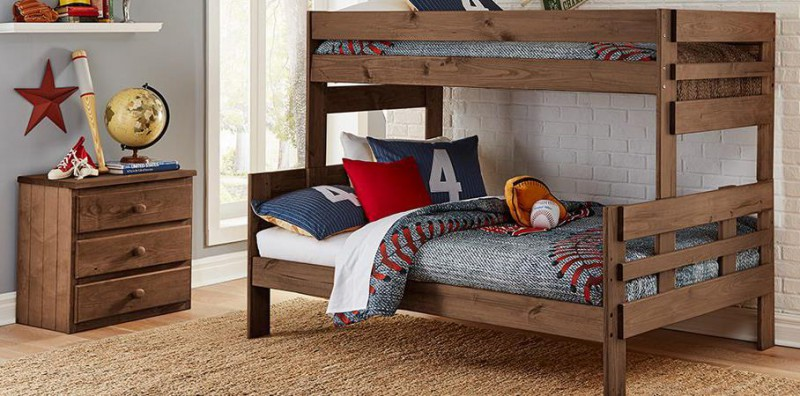 Simply Bunk Beds   TWIN/FULL BUNKBED CHESTNUT