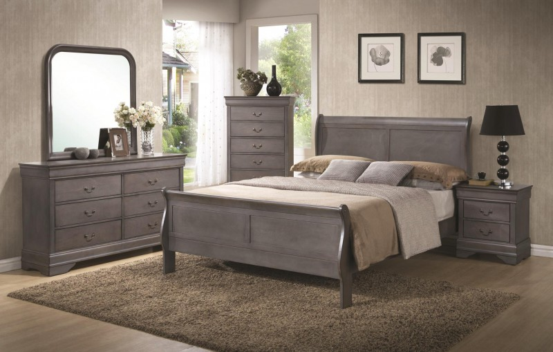 American Imports   LOUIS PHILIPPE GREY DRESSER