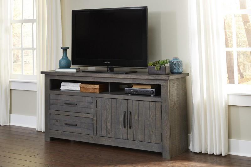 Progressive Furniture | Nest Distressed Dark Gray 64 TV Stand