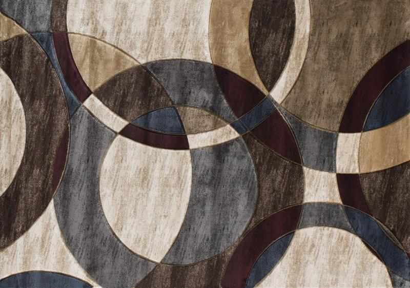American Imports Orelsi  Beige/Dark Brown Rug