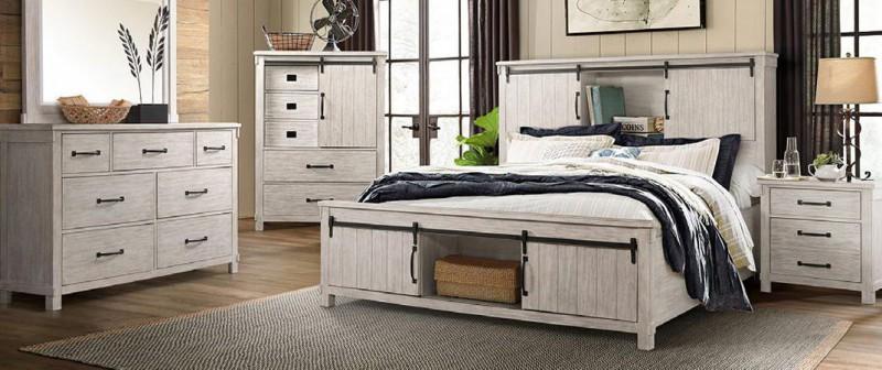 American Imports Scott White Queen Bedroom
