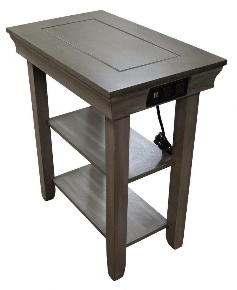 AWF | CHAIRSIDE TABLE W/USB JASPER GREY