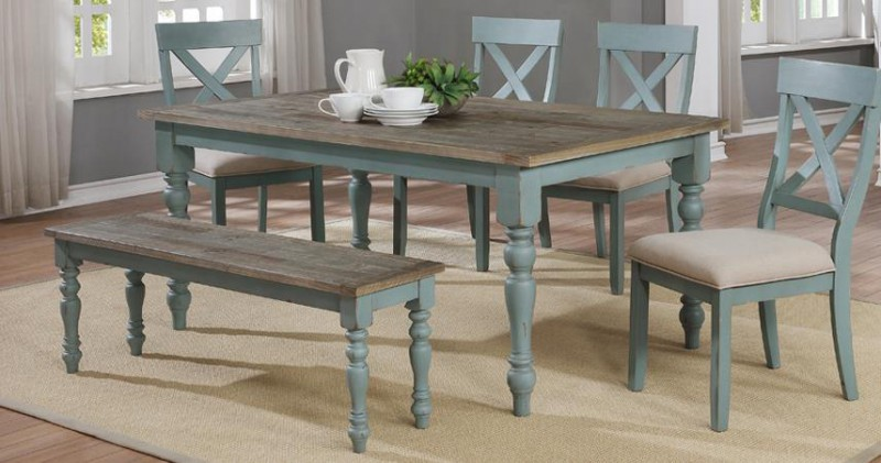 American Imports | DINING TABLE W/6 CHAIRS KELSEY CREEK