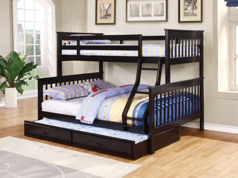 Coaster Twin over Full Bunkbed with Trundle