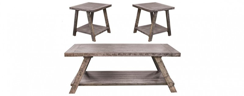 American Imports Cloud Gray end table