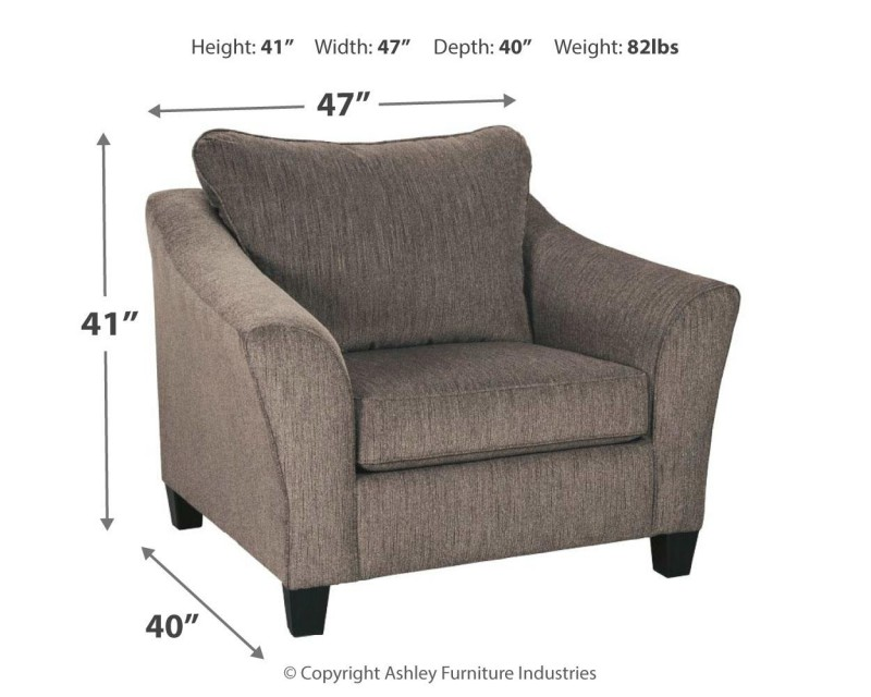 Signature Design Nemoli Slate Chair and 1/2