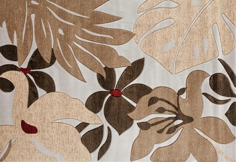 American Imports Grey/Dark Brown Glamor Rug