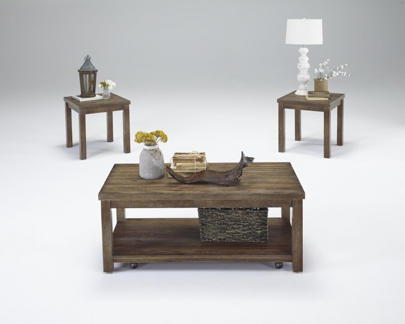 Progressive Furniture   Silverton Walnut 3 Pack Casters