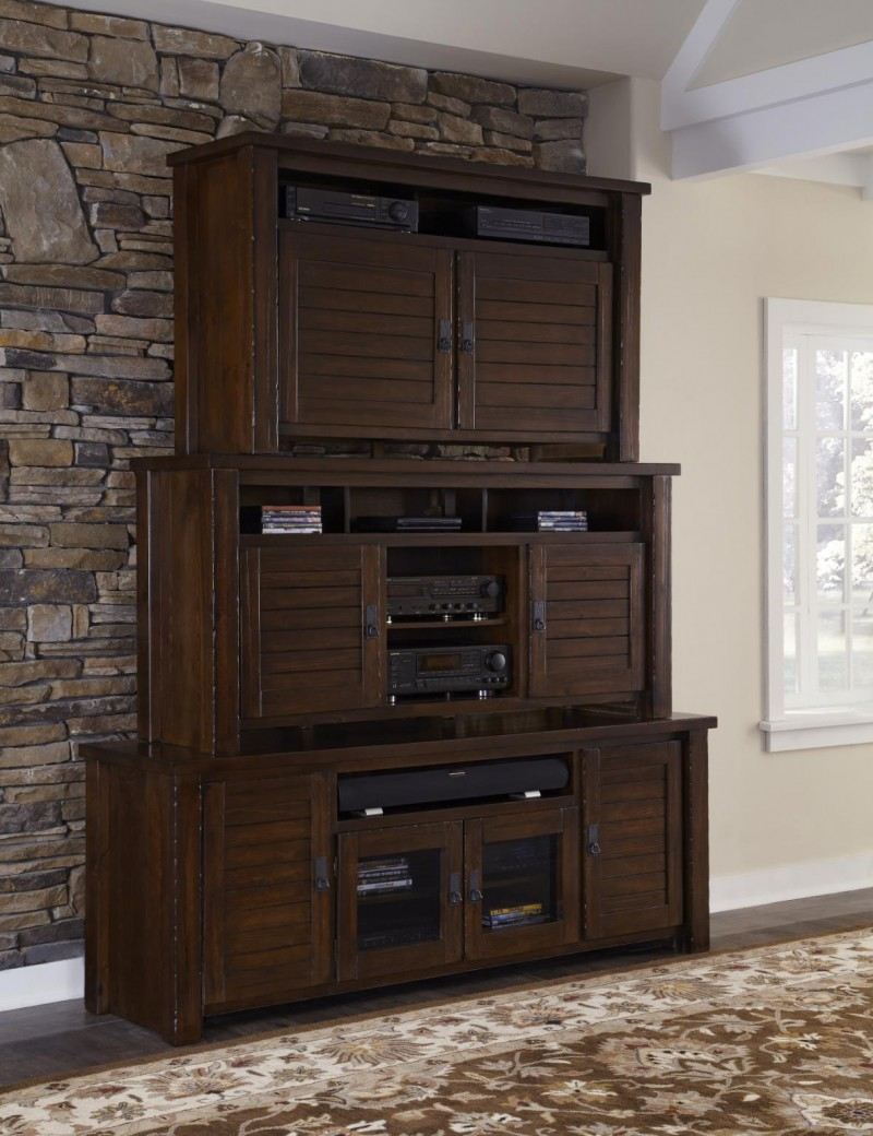 Progressive Furniture Trestlewood 74 Entertainment Stand