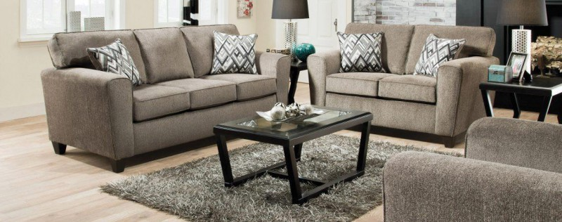 American   Cornell Pewter SOFA and LOVESEAT