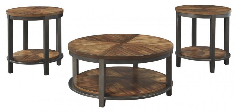 Signature Design   roybeck brown bronze 3 pack tables