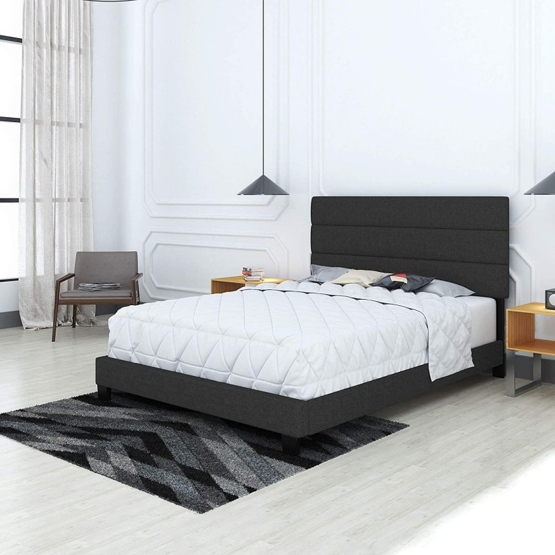 Boyd Specialty Sleep | Sicily Black Linen Bed Queen