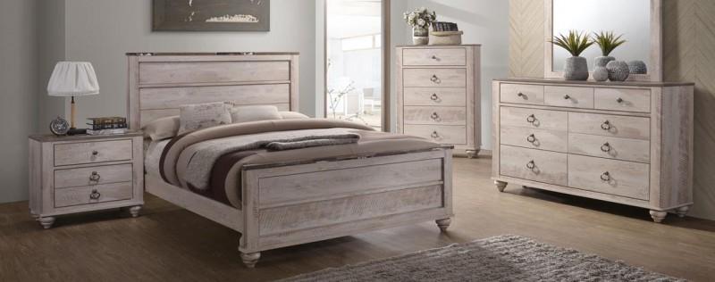 American Imports Jessup Queen Bed,Dresser/Mirror