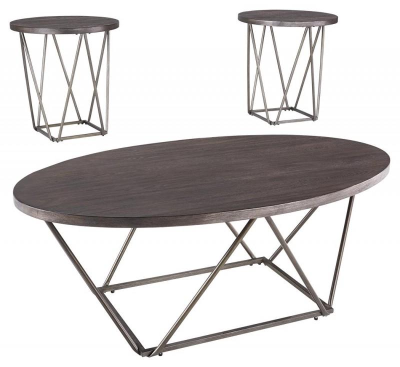 Signature Design | neimhurst dark brown 3 pack tables