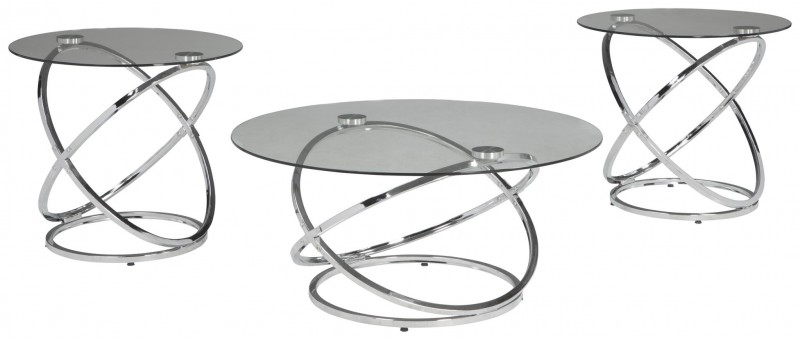 Signature Design   hollynyx Chrome 3 pack of tables