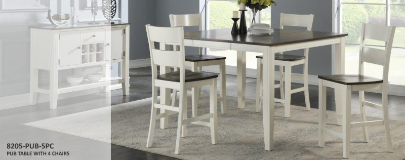American Imports | DINING TABLE & 6 CHAIRS GREY & WHITE