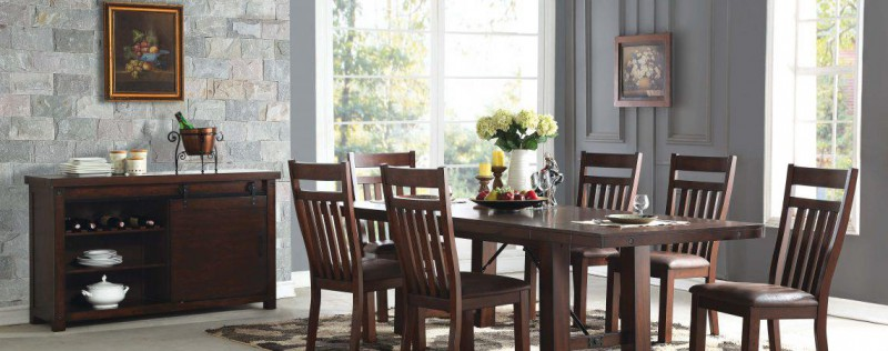 American Imports | DINING TABLE, 4 CHAIRS& BENCH ACACIA