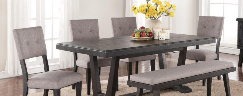 American Imports | DINING TABLE & 6 CHAIRS ASHEN ECHO