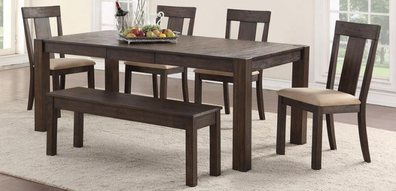 American Imports   DINING TABLE & 6 CHAIRS QUINCY