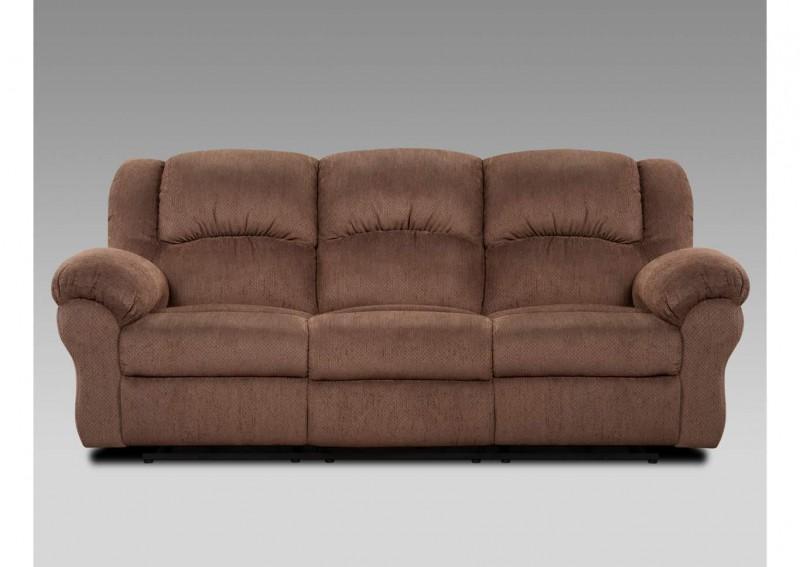 Affordable   Reclining Aspen Chocolate Sofa
