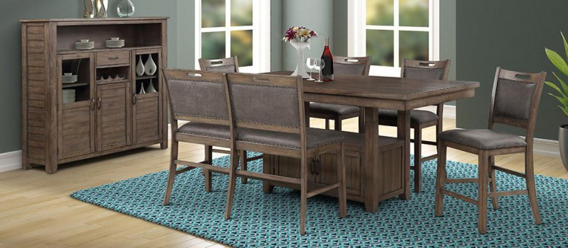 American Imports   PUB TABLE W/4 CHAIRS COLORADO GREY
