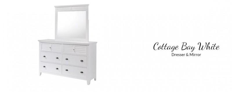 American Imports | Cottage Bay White Dresser / Mirror