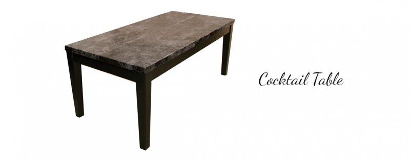 American | Black faux marble cocktail table ONLY