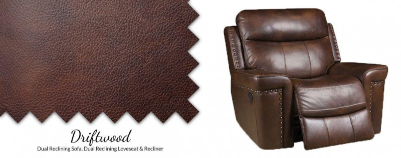 American Imports Driftwood POWER Italian Leather Recliner