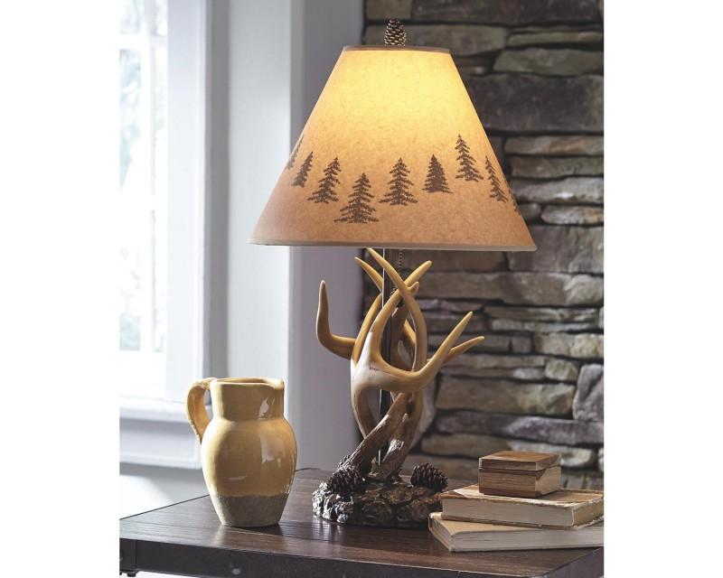 Signature Design   Derek Antler Pair of Lamps