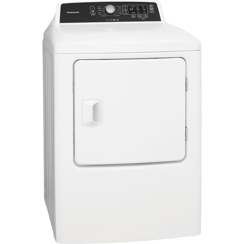 Frigidaire | 6.7 CF Gas Dryer 10 Cycles Revers Door SS Drum