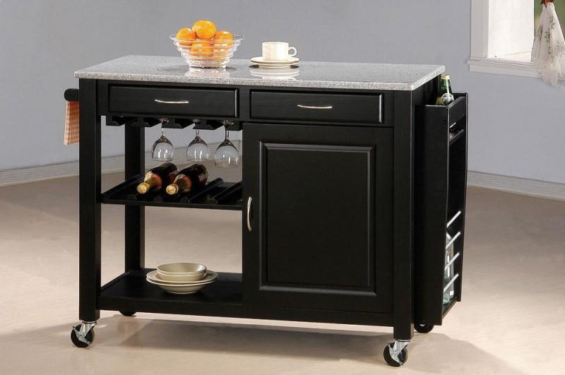 Coaster Marble Top Kitchen Cart