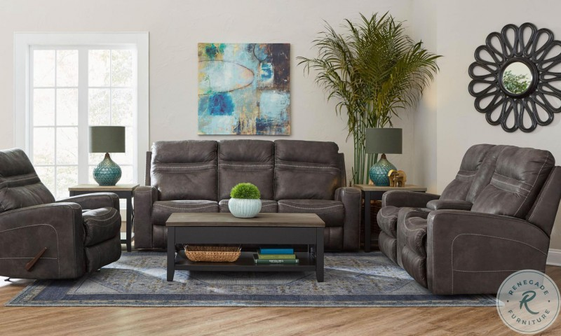 Lane Home Furnishings | Durham Charcoal Recliner