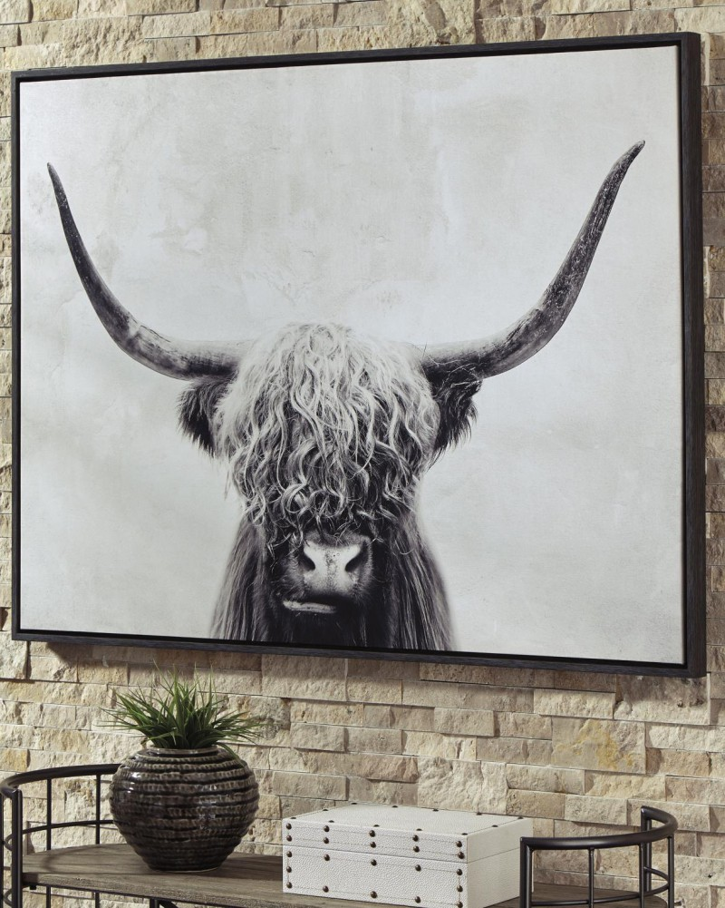 Signature Design Pancho Shaggy Bull Wall art