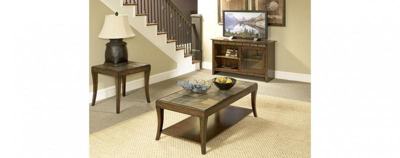 American Imports | Mahogany 3 Pack Tables