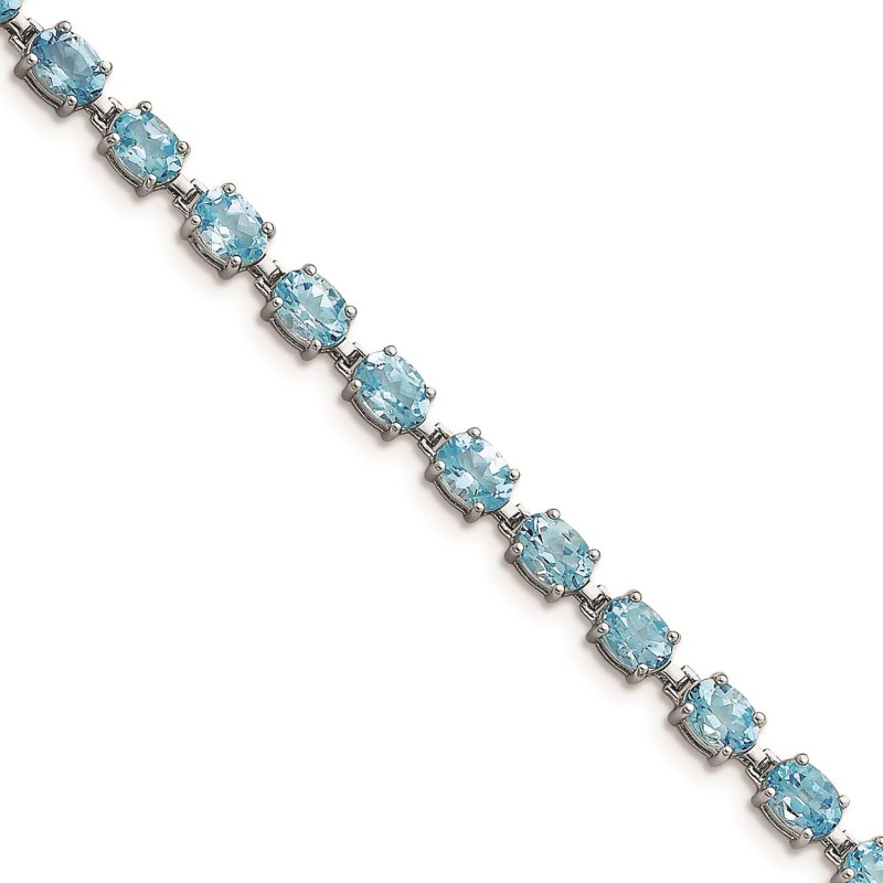 New Generations  Sterling Silver and Topaz Bracelet