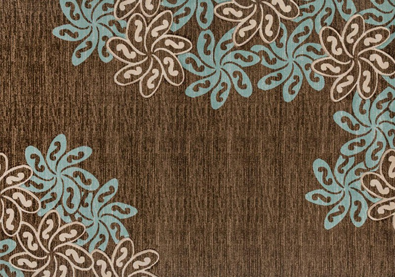 American Imports Brown/Turquoise Glamor Rug