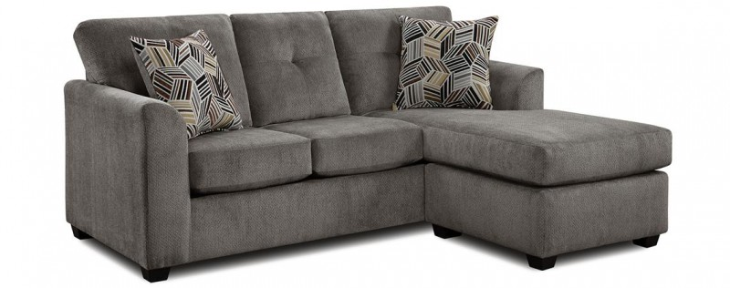American Imports Grey Sofa/Chaise